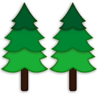 Pine clipart triangle tree. Panda free images campingclipart
