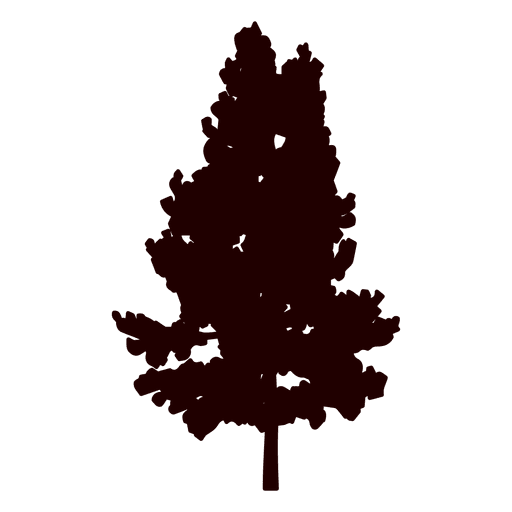 Pine silhouette png. Mountain tree transparent svg
