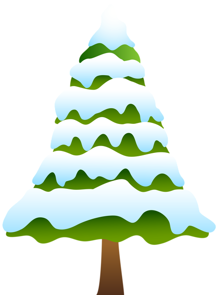 Pine tree clipart png. Snowy clip art image
