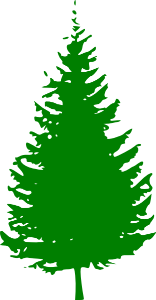 Pine tree green clip. Evergreen clipart snow capped clip art free