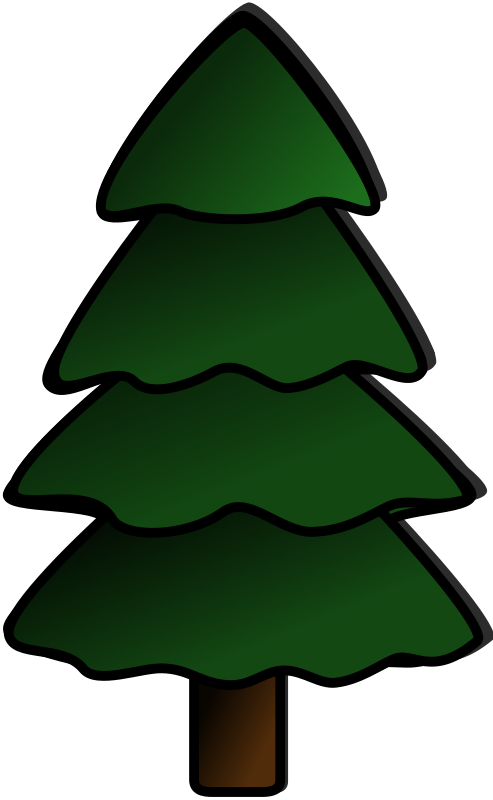 Pine tree png map. Clipart medium image