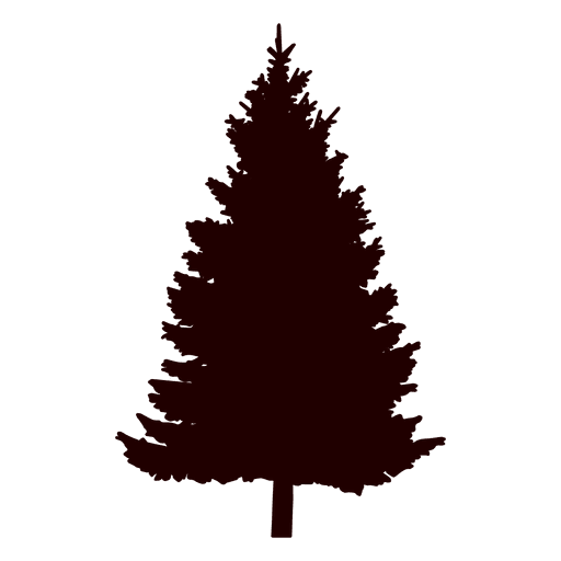 Tree silhouette transparent svg. Pine png clipart black and white
