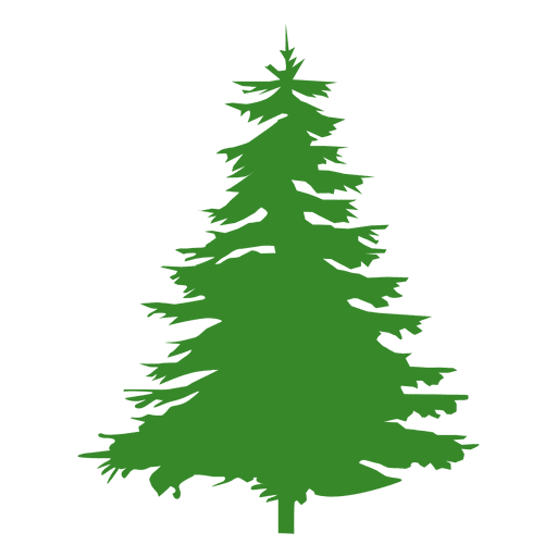 Pinetree vector tree flat. Pine silhouette transparent png