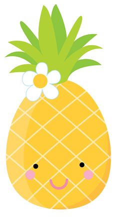 Pineapple clipart. Cute pineapples set clip