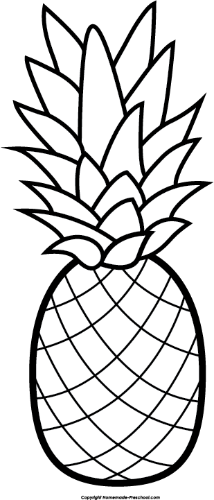 Drawing clip. Pineapple clipart free art