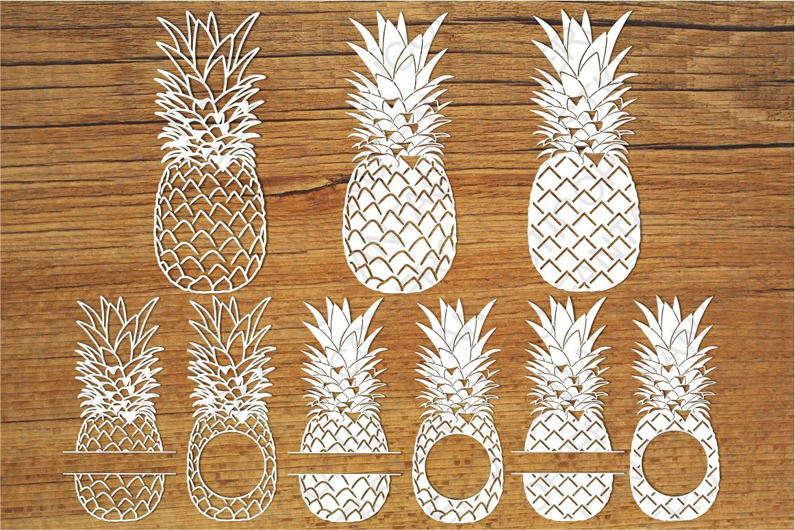 Pineapple clipart fancy. Pineapples svg files for