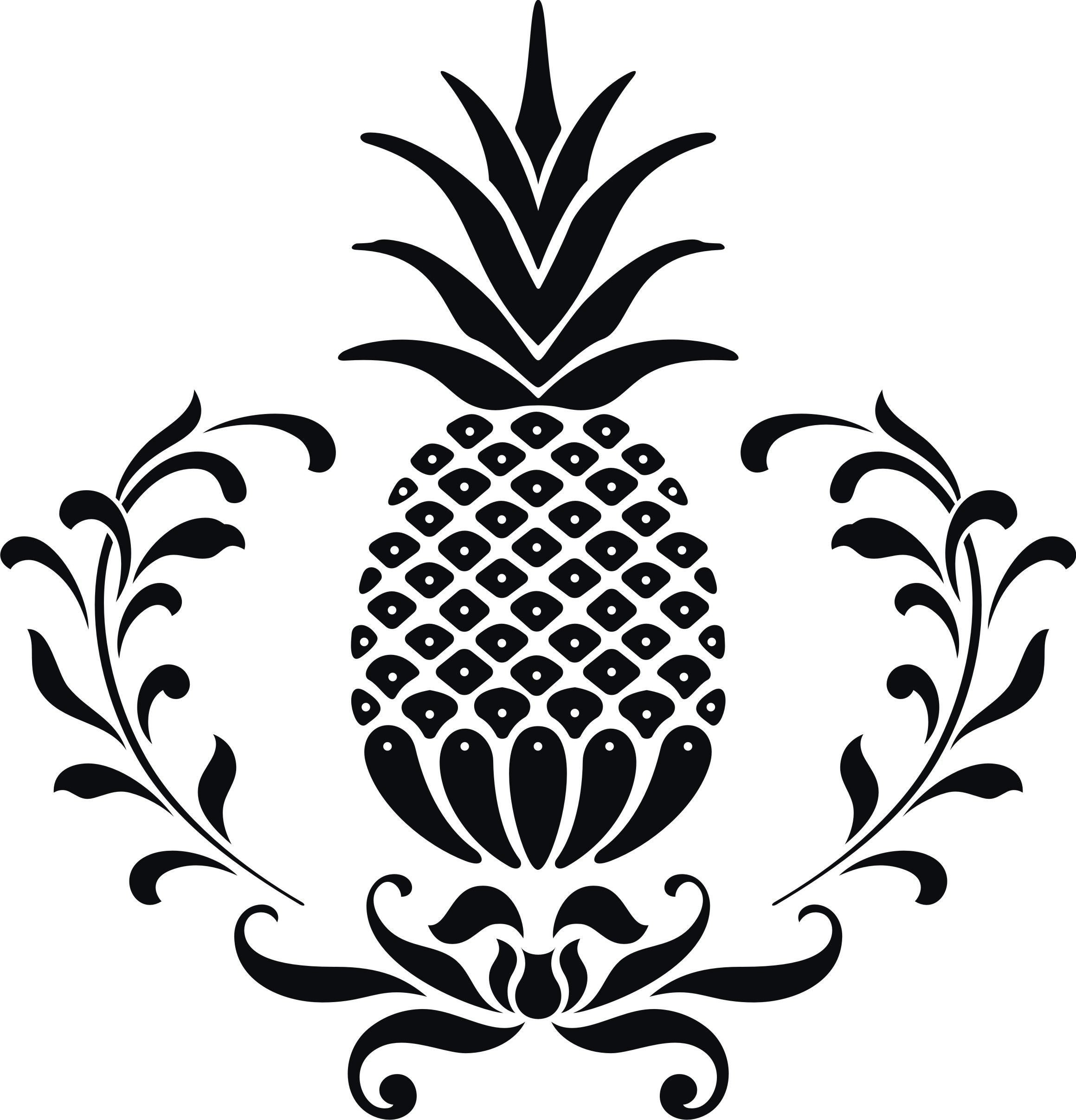 Pineapple clipart fancy. Hospitality clip art panda