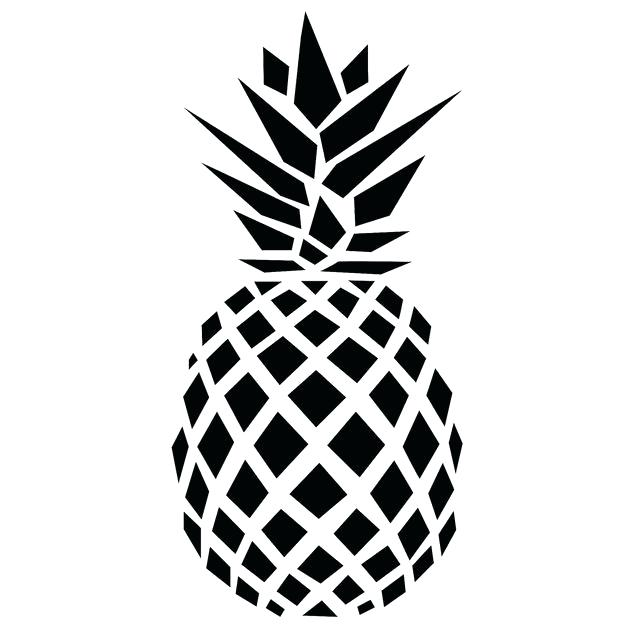 Pineapple clipart line art. Free pin drawing science