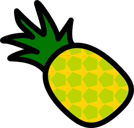 Pineapple clipart line art. Free cartoon cliparts download
