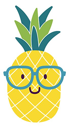 Pineapple clipart summer. Amazon com adorable nerdy