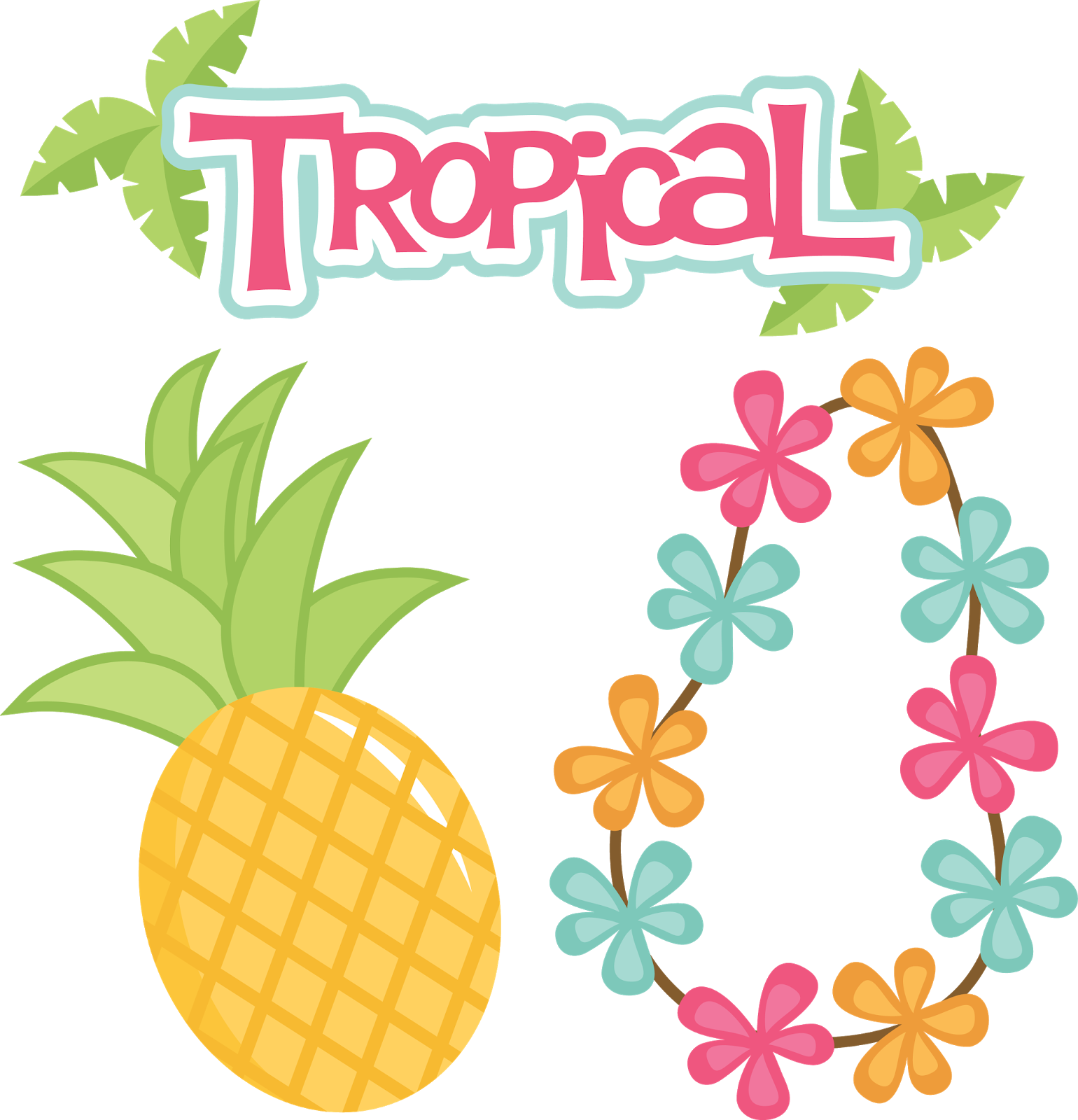 Pineapple clipart summer. Miss kate cuttables design