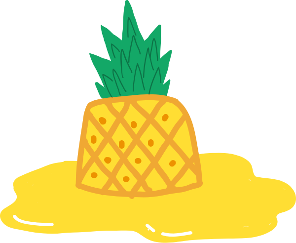 Medium pineapple. Free online fruit plant