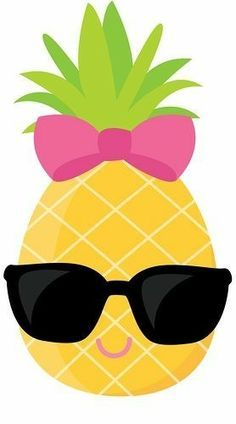 Pineapple clipart summer. Cute clip art sunglasses