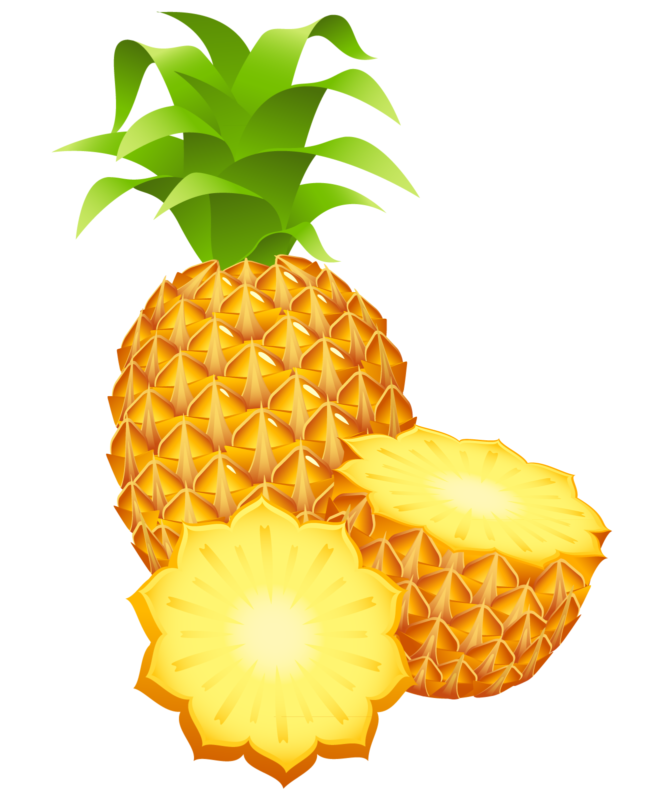 Pineapple clipart transparent. Large painted png cliparts
