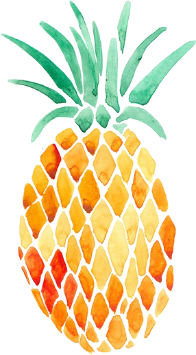 pink drawing pineapple