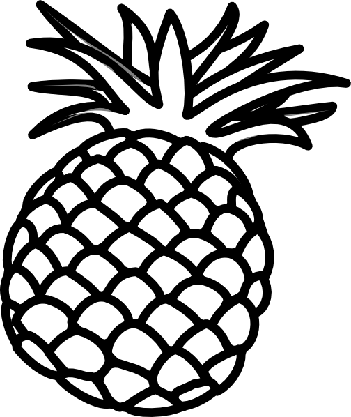 Pineapple outline png. Drawing at getdrawings com