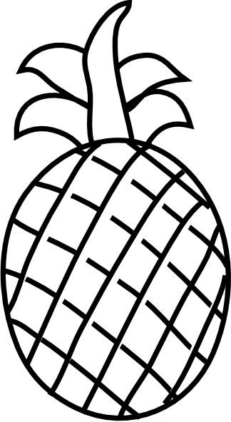 Pineapple outline png. Clip art at clker
