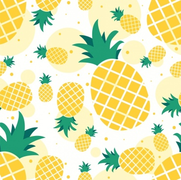 Flat pineapple. Free vector download for