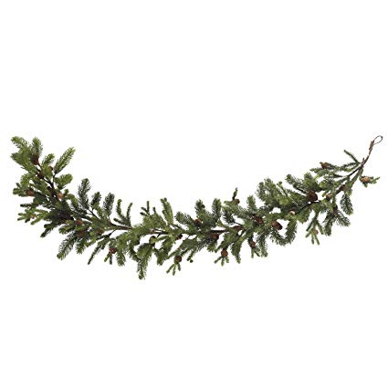 Pinecone clipart pinecone garland. Amazon com nearly natural