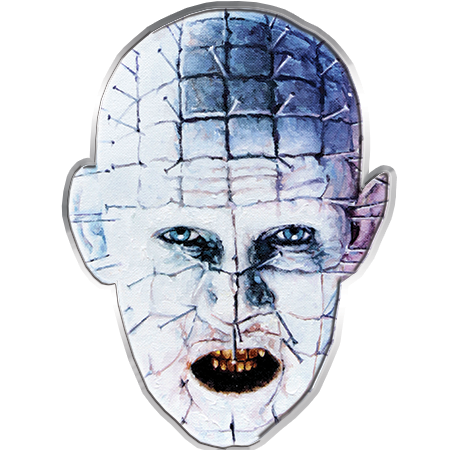 Pins drawing face. Famous monsters pinhead pin