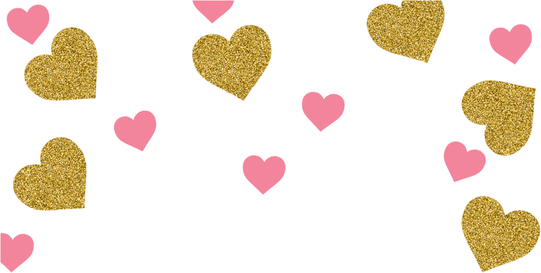 Pink and gold confetti png. Download hd heart transparent