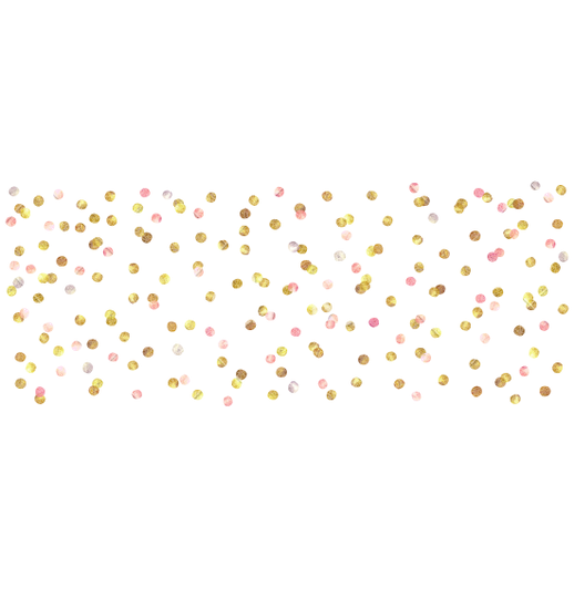 Pink and gold confetti png. Clip art dots transprent