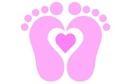footprint svg baby foot