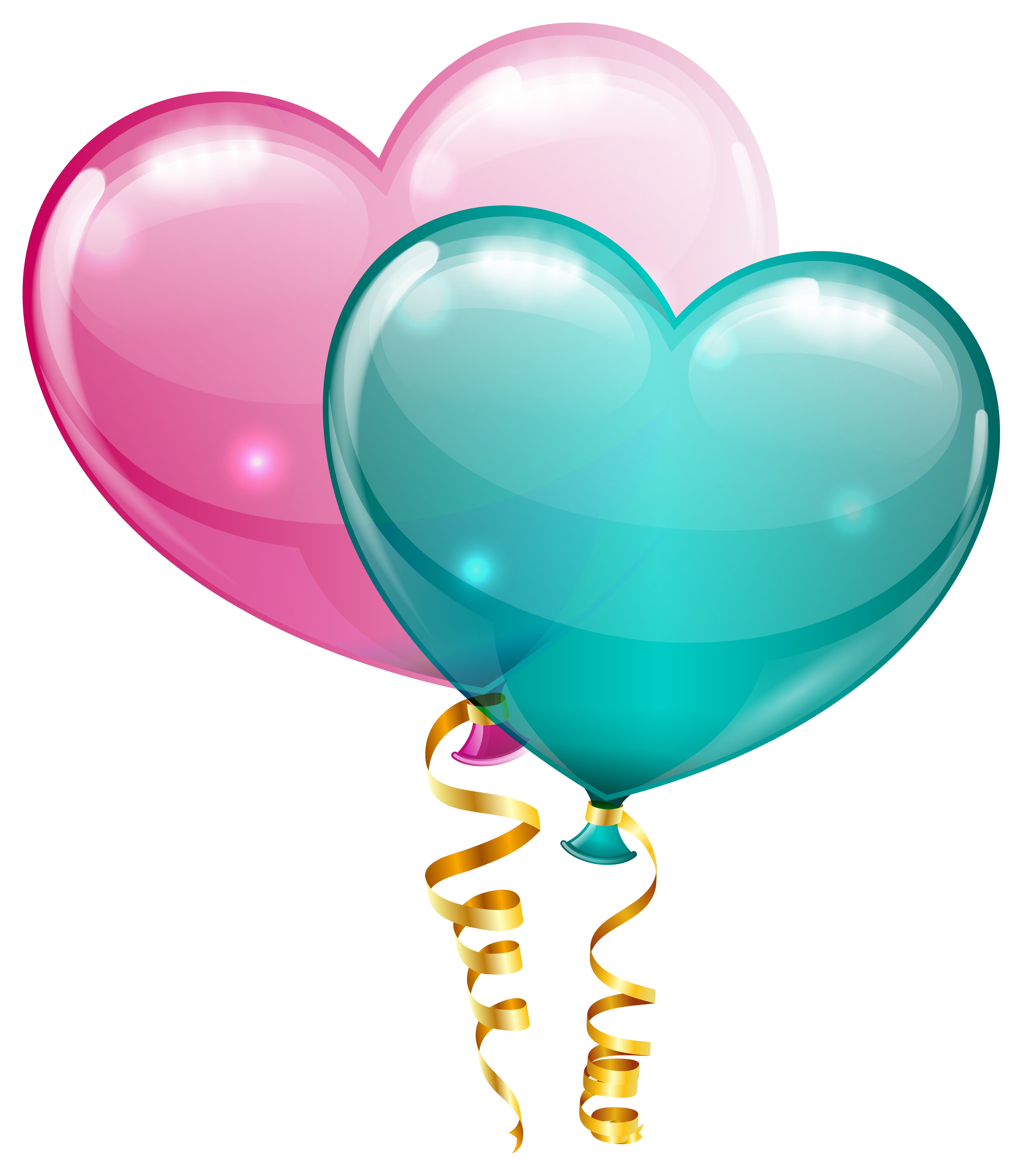 Pink balloons png. And blue heart clipart