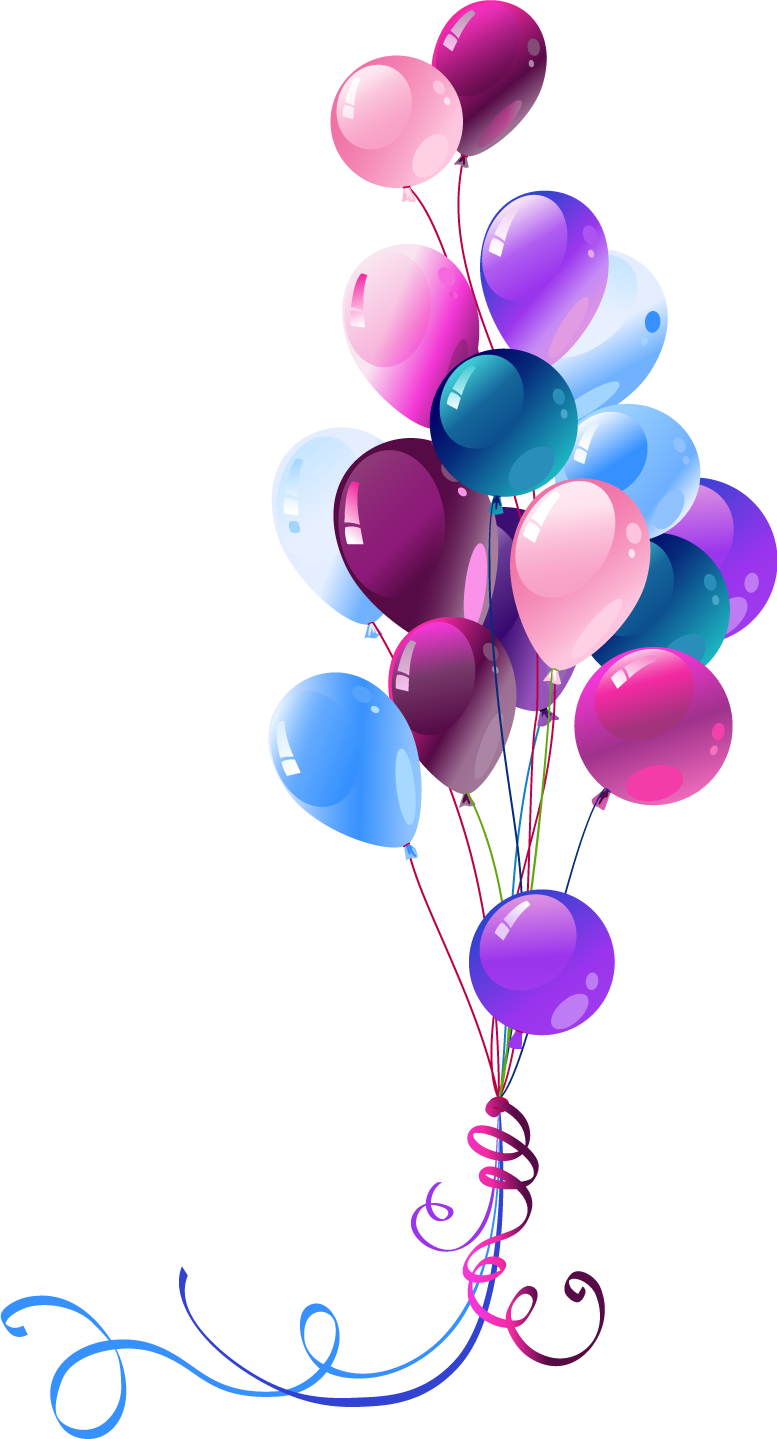 Purple balloons png. Free ballons download clip