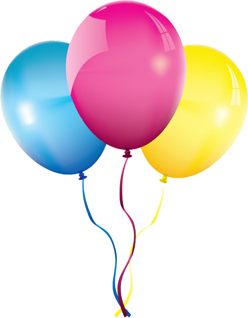 Pink balloons photography png. Cute birthday tellow blue