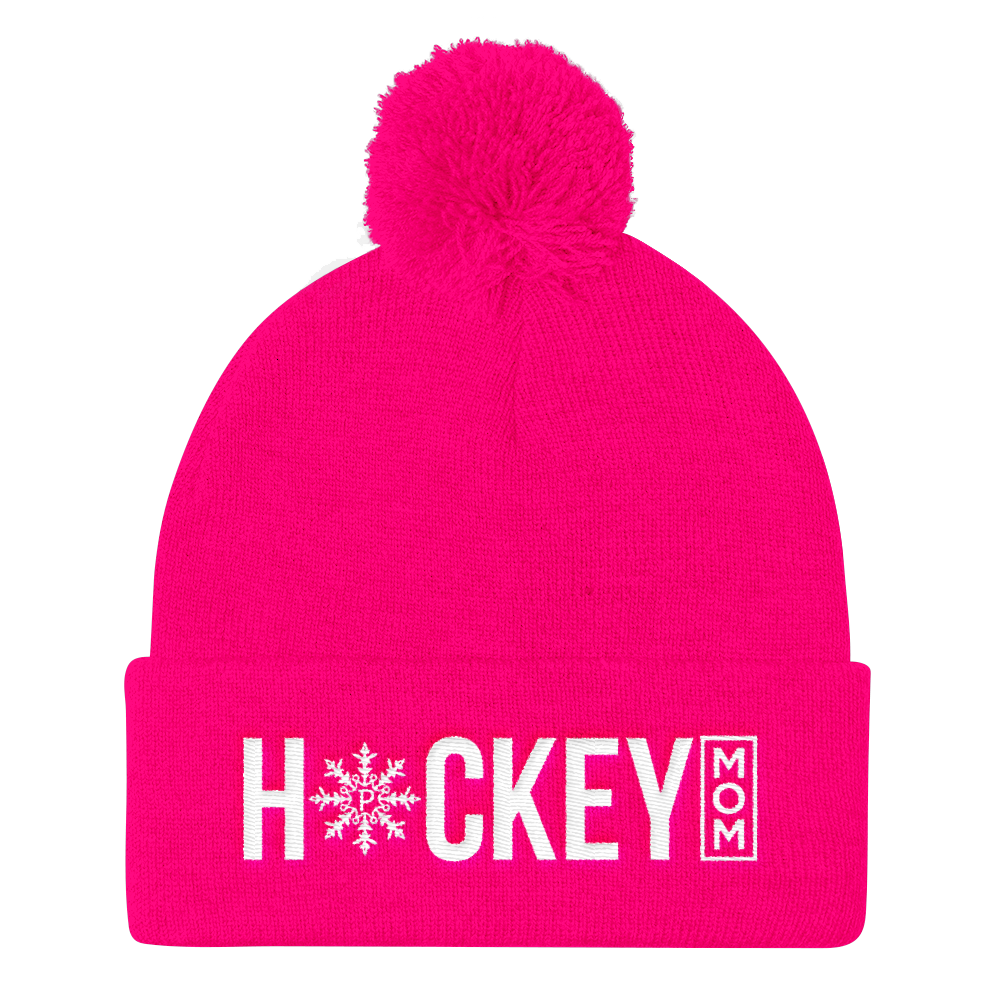 Pink beanie png. Hockey mom knit pinkskate