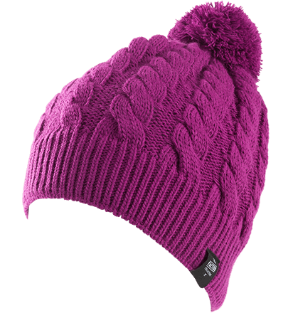 Pink beanie png. Faction cable knit skis