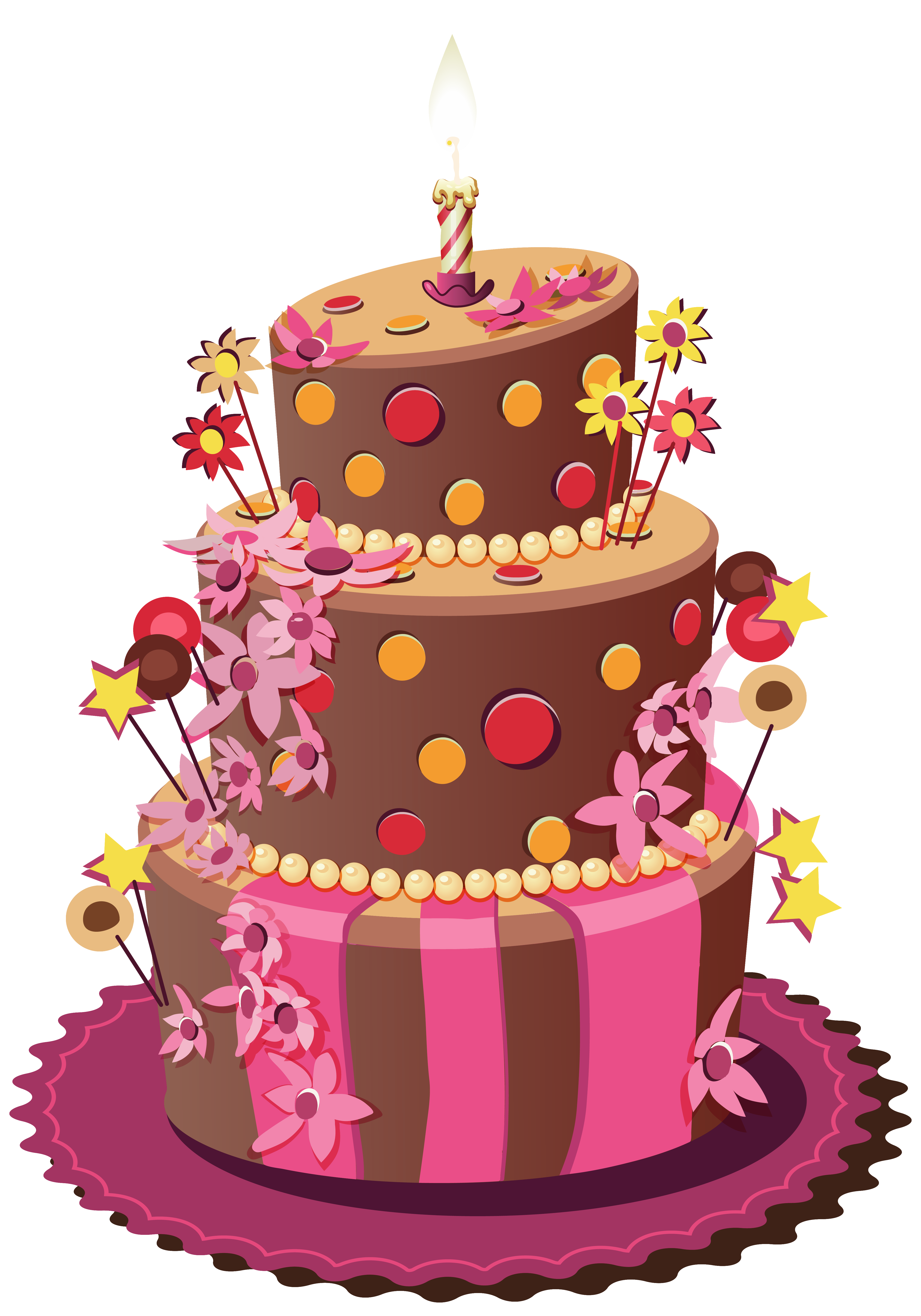 Pink birthday cake png. Clipart image gallery yopriceville
