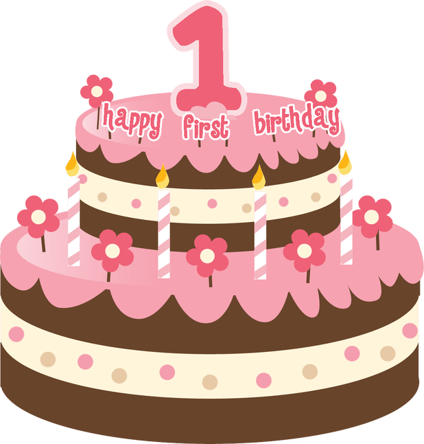 Pink birthday cake png. Happy to you animated