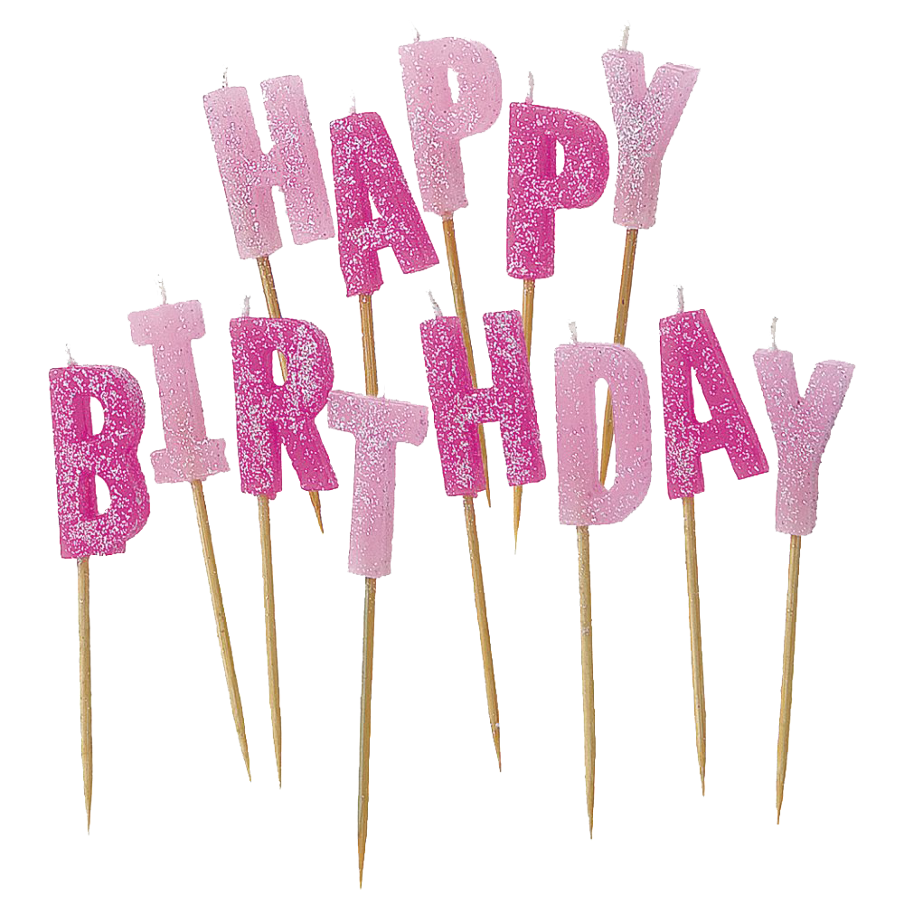 Transparent candles happy birthday. Png images all