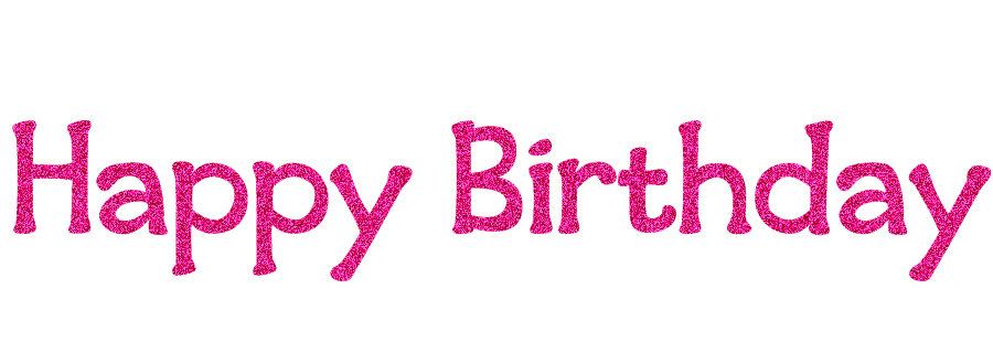 Pink birthday png. Happy