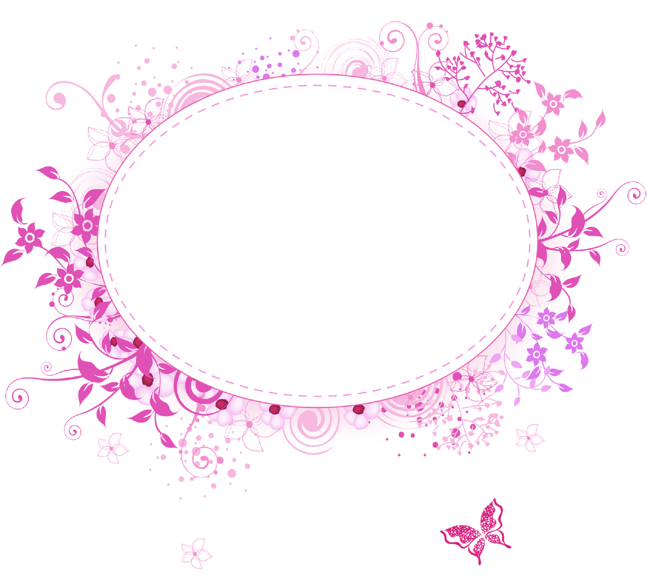 Pink border png. Frames category views floral