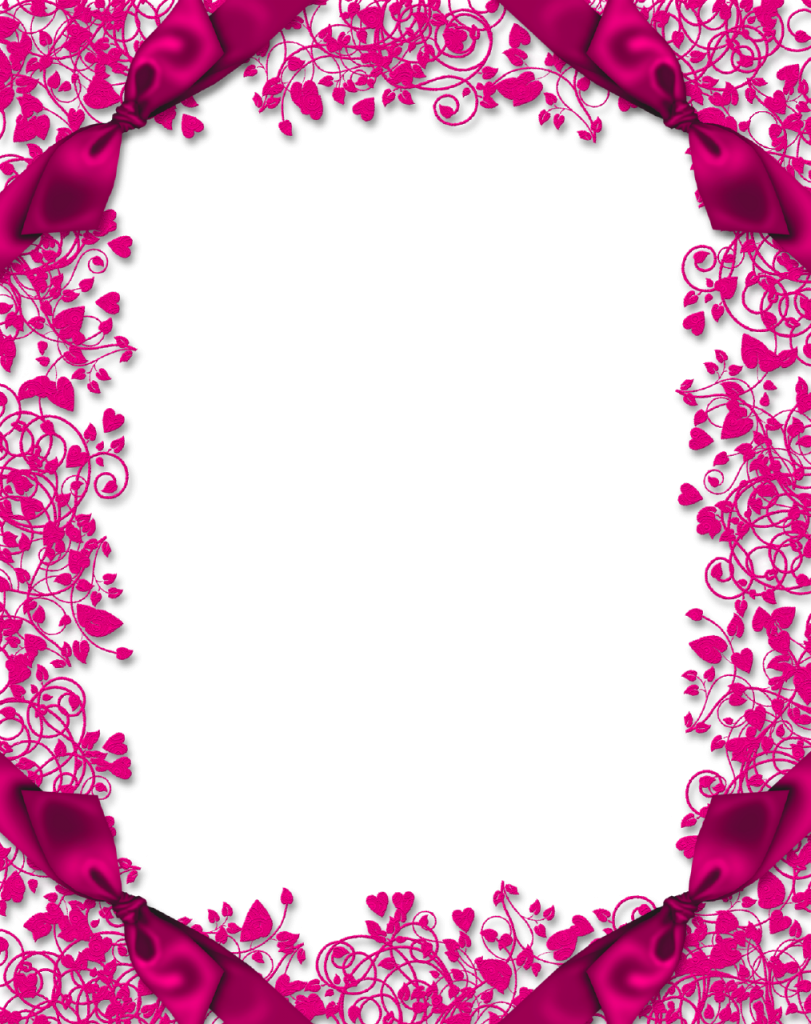 Pink floral border png. High quality image vector