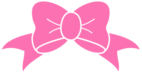 Girly clipart girly stuff. Hot pink bow clip
