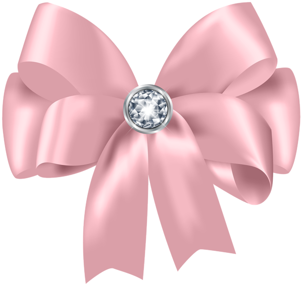 Pink bow clipart png. Beautiful with diamond clip