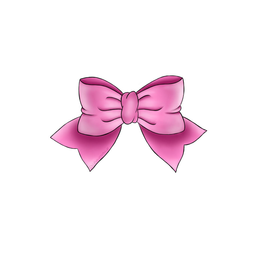 Pink bow png. By v phantomhive on