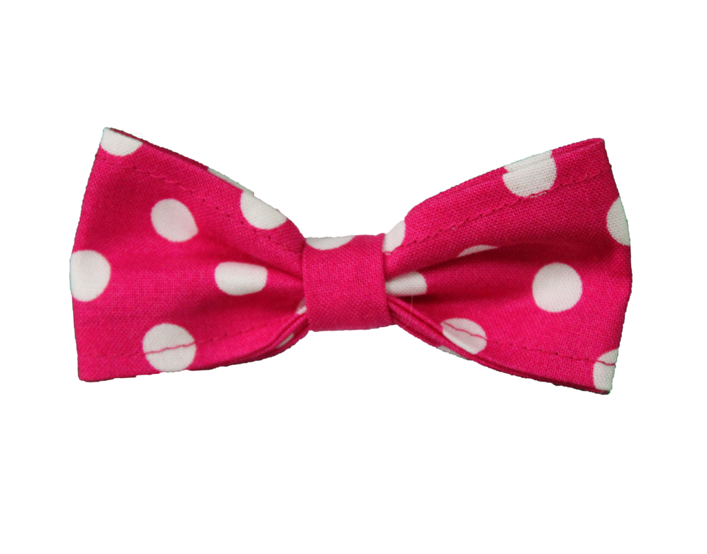 Pink bow tie png. Hot w white polka