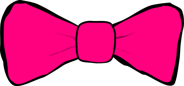 Necktie drawing vector. Hot pink bow clip