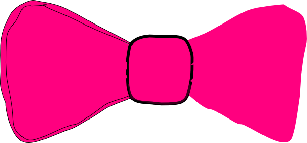 Pink bow tie png. Clip art at clker