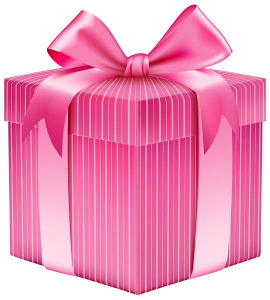 Vector presents pink. Striped gift box png