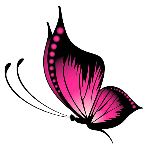 Pink butterfly png. File mart