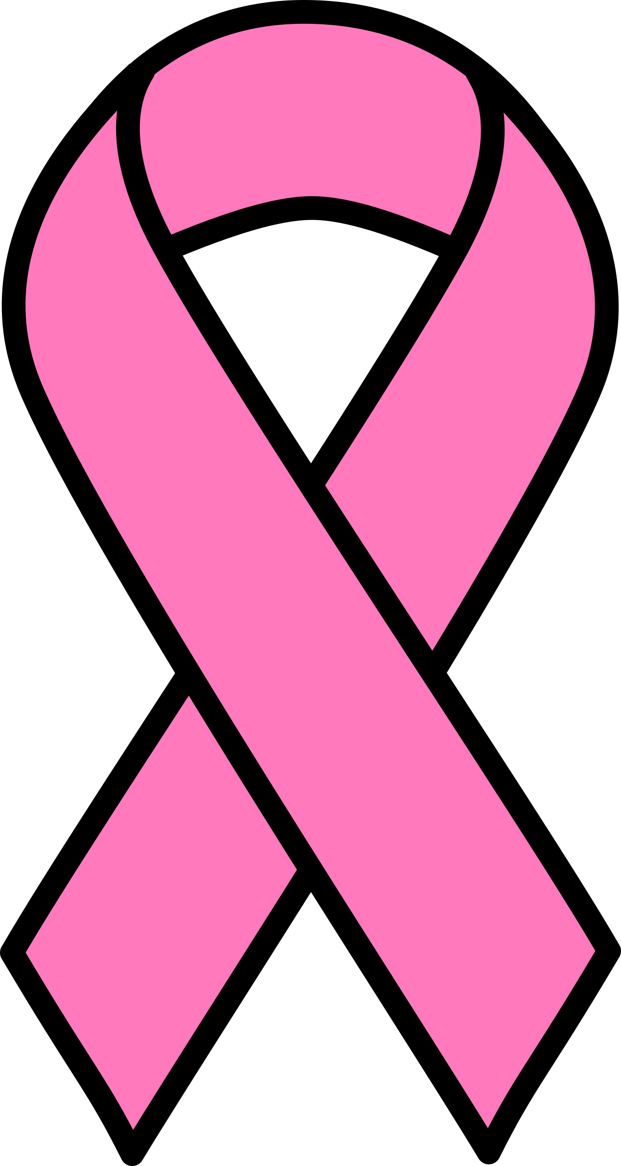 Breast cancer ribbon png. Image clipart pink true
