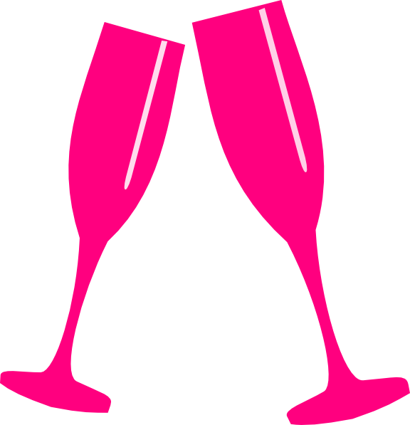 Pink champagne glasses png. Glass clip art at
