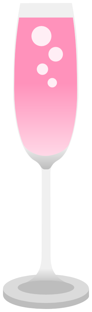 Pink champagne png. Vector by drinkeviltea on