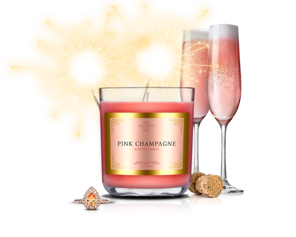 Pink champagne png. Jewel candle fragrant jewels